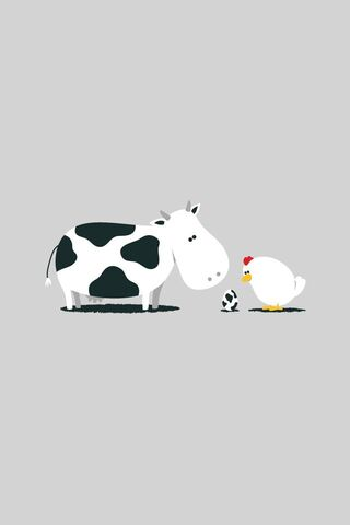 गाय और चिकन