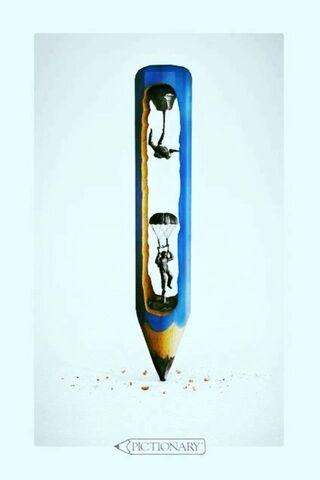 Ołówek spadochronowy