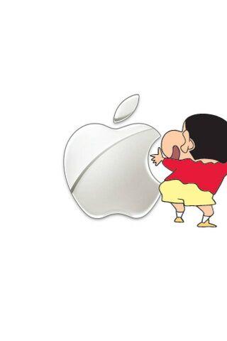 Apple लोगो शिन-चान