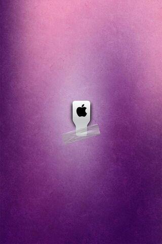 Apple Logosu Mor