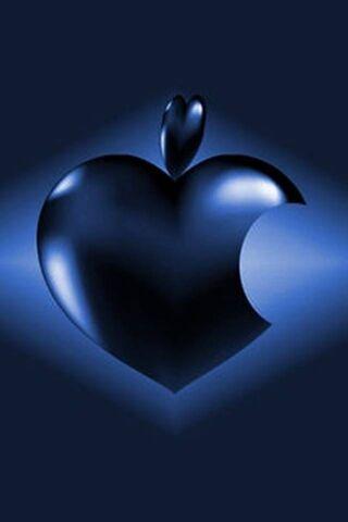 Темно-синий яблочный логотип