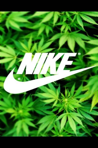 Nike Swoosh Pot Leaf