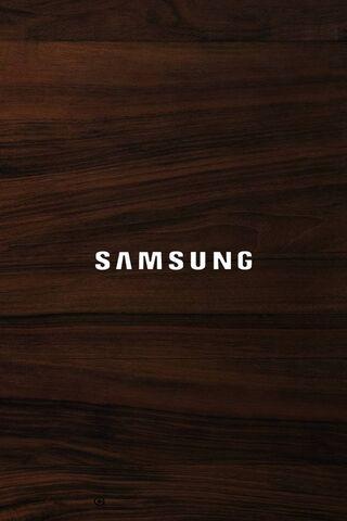 Logo Samsung Wood