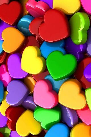 Cuori multicolori