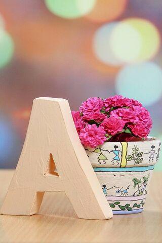 Lettre A Avec Fleur