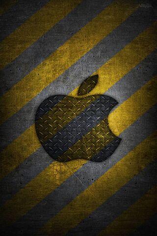 Apple Metal Logo