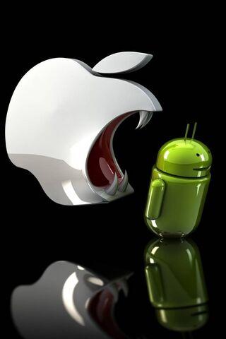 ऐप्पल ईटिंग एंड्रॉइड