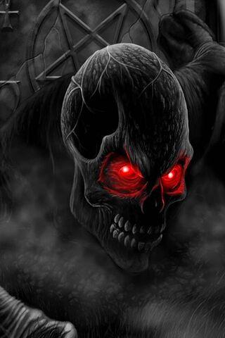 लाल आँख की खोपड़ी