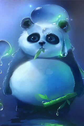 Phoneky Wallpaper Panda Magic Bubbles Hd