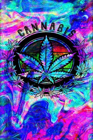 Trippy Cannabis Leaf