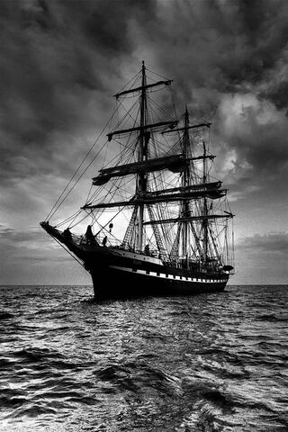 Black Sailing Ship