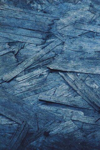 Drewniany niebieski