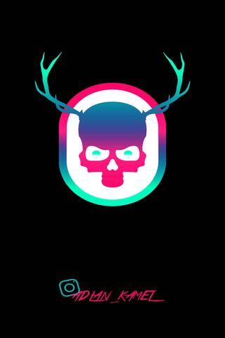 Retro Skull 2