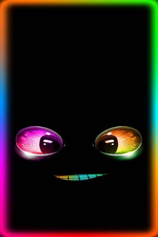Visage au néon