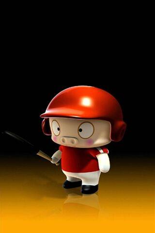 Joueur de baseball de porc