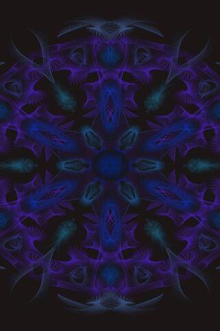 Blue-Purple Mandala