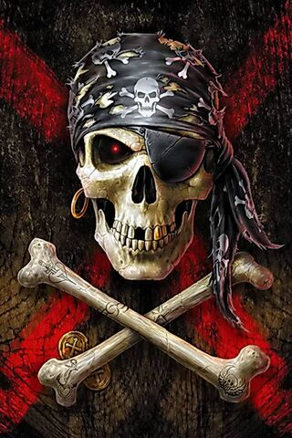 Pirate Skull Wallpaper Download To Your Mobile From Phoneky