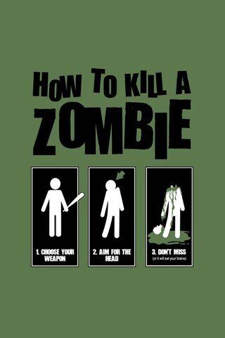 Wie man einen Zombie tötet