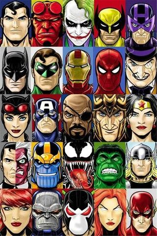 Superheroes Villains