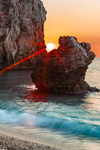 Peeking Sun