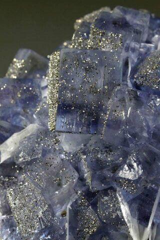 Blue Glitter Cubes