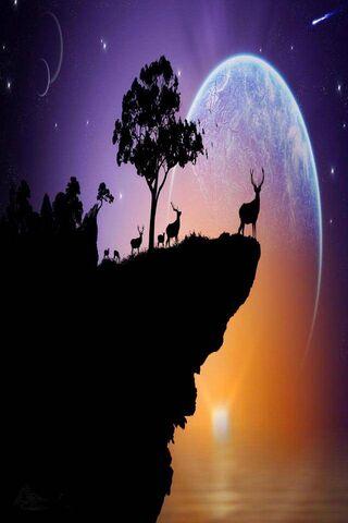 Planet Sky Stars