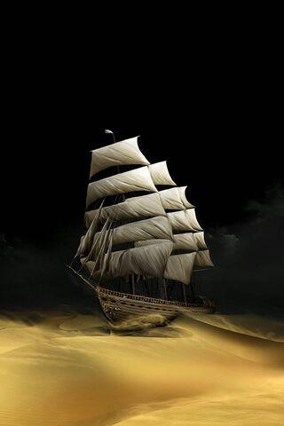Tàu trong sa mạc