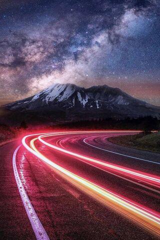 ضوء سيارة الشرائط