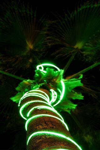 Led Tree Green
