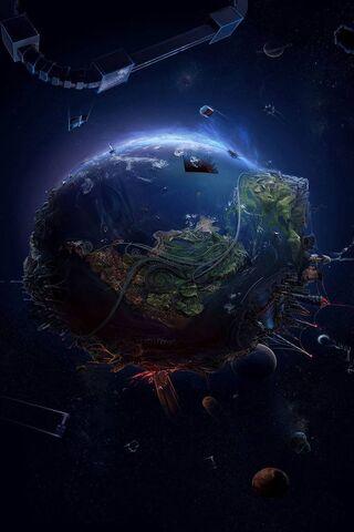 الأرض الفضاء