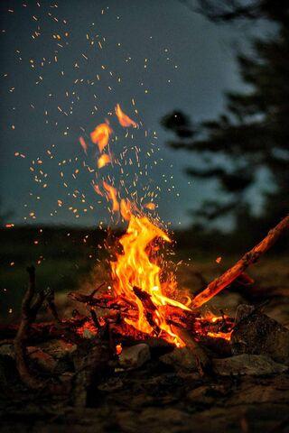 Hd Fire At Night