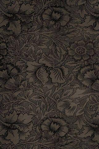 Dark Texture Flowers