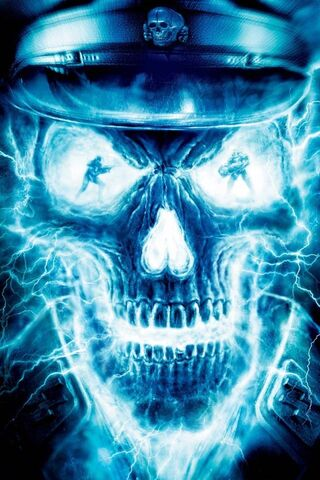 Blue Fire Skull Hd Wallpaper Download To Your Mobile From