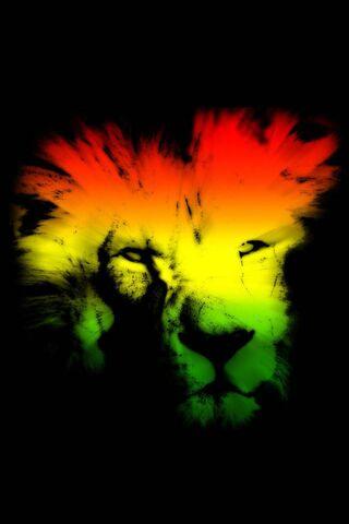 Visage de lion abstrait