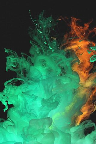 Green Flame Abstract