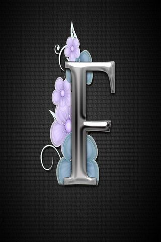 Letter Ff Flower
