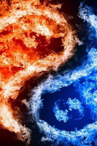 Kebakaran Merah Biru