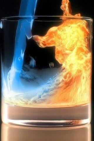 النار والماء