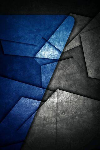 কালো এবং নীল