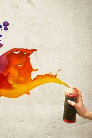 Color Spray Abstract