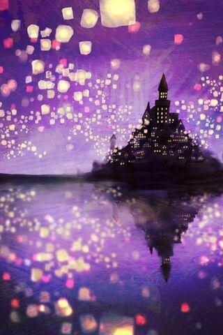 Purple Castle Lamps