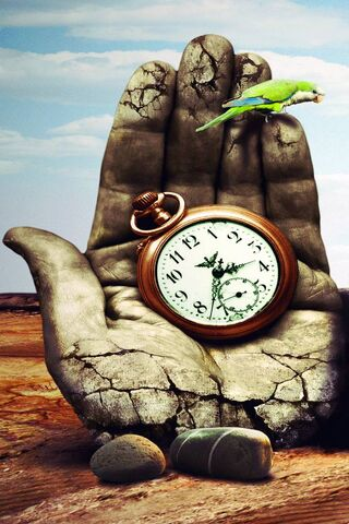 Hand Parrot Clock