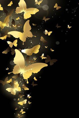 الفراشات الذهبية