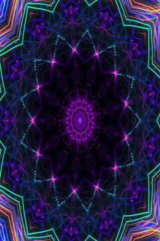Digital Neon Star