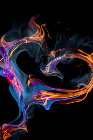 Coração em chamas