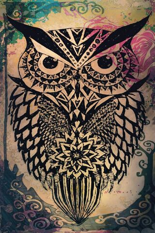 Tribal Abstract Owl