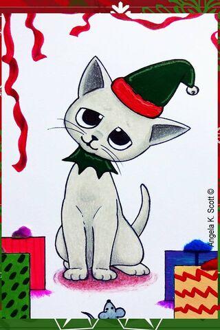 Xmas Kitty Cat