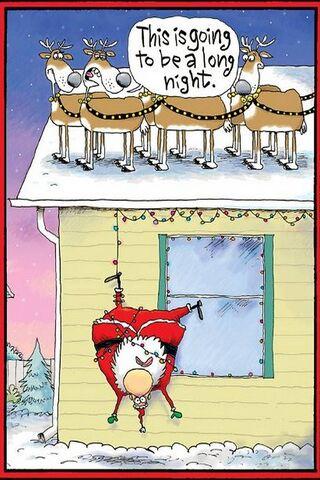 Hanging Santa