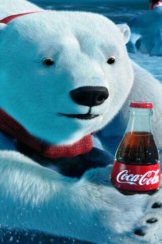 Christmas Bear Coke