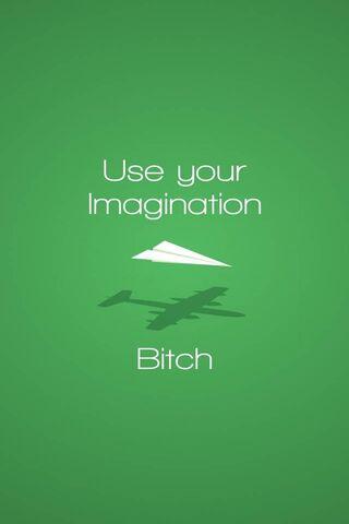 कल्पना का प्रयोग करें